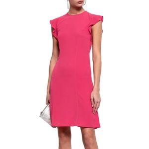 MICHAEL KORS Ruffle-trimmed crepe mini dress